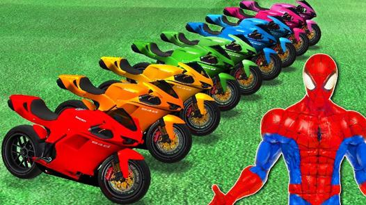 spiderman moto dessin animé