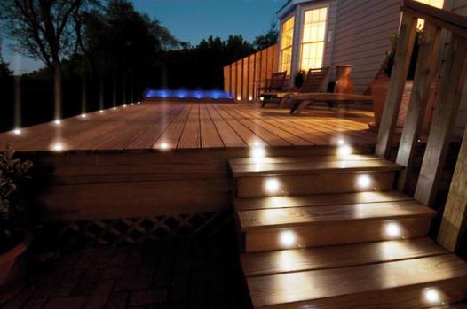 spot led terrasse bois