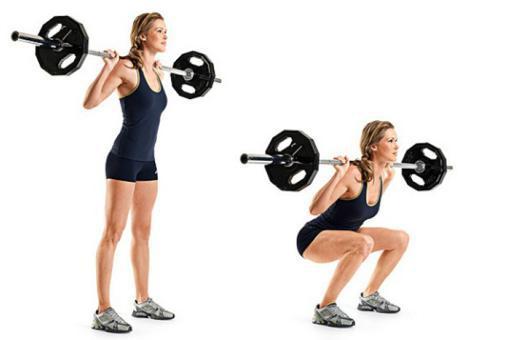 squat haltere ou barre