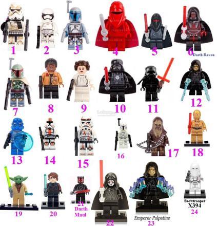 star wars lego figurine