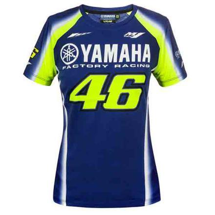 t shirt yamaha bleu