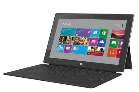 tablette avec clavier microsoft