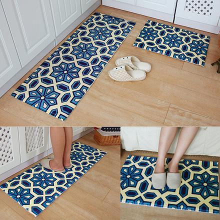 tapis cuisine bleu