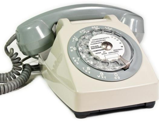 téléphone à fil
