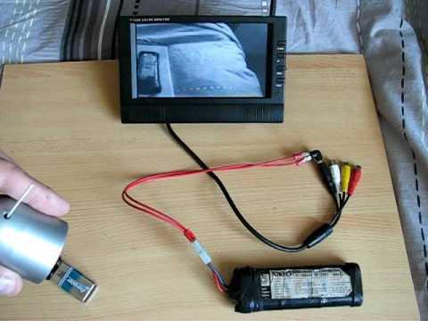test camera de recul sans fil