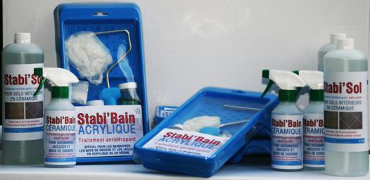 traitement antidérapant douche