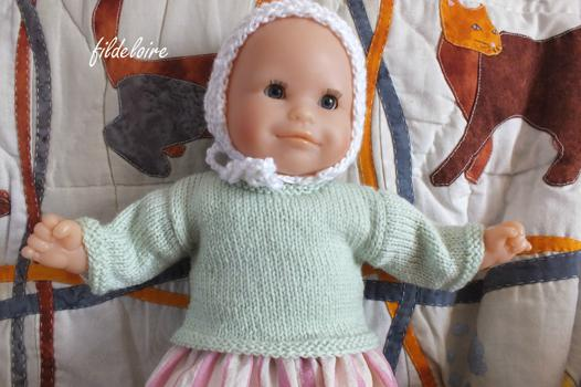 tricot poupon corolle 30 cm