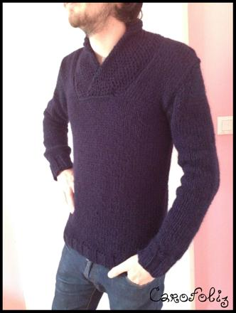 tricoter pull homme facile