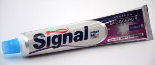 tube dentifrice signal