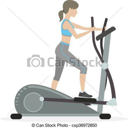 vélo elliptique dessin