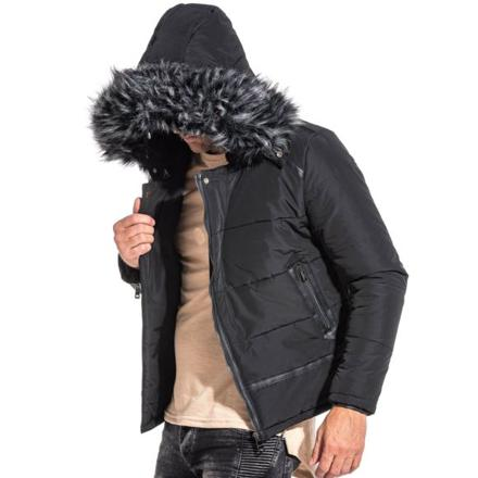 veste capuche fourrure homme