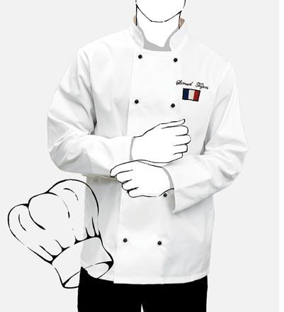veste de cuisine personnalisée