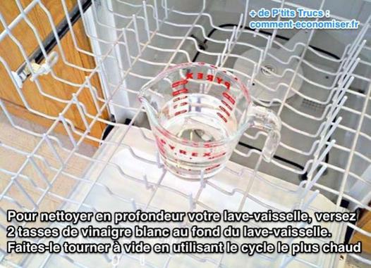 vinaigre blanc lave vaisselle