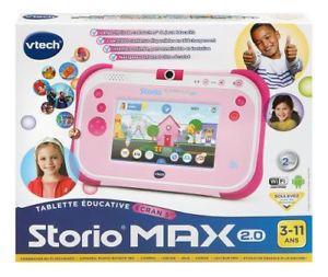 vtech tablette storio max 2.0 5 rose