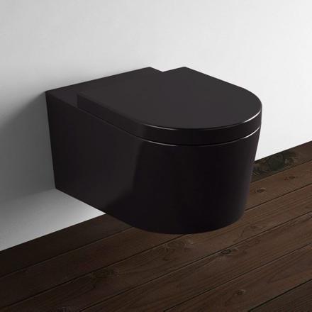 wc suspendu noir